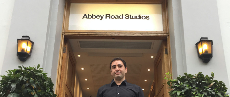 Luca Barassi in front of Abbey Road Studio