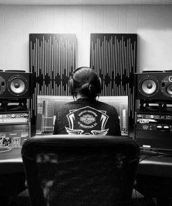 Brandon Moore Mixing Studio GIK Acoustics Impression Alpha Pro Series