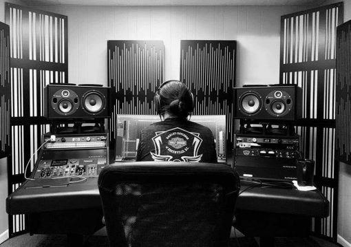 Brandon Moore Mixing Studio GIK Acoustics Impression Alpha Pro Series