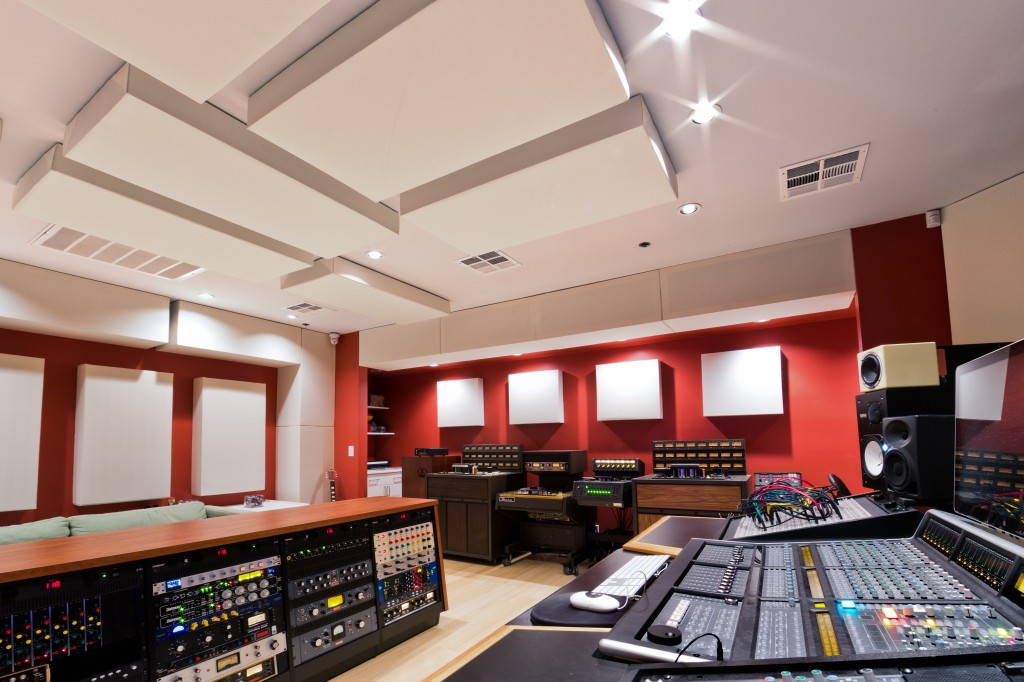 Lost ark Studio Control Room with GIK 244 Bass Traps