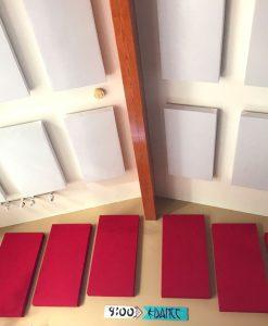 I pannelli GIK Acoustics 242 di Eric Severn appesi al soffitto