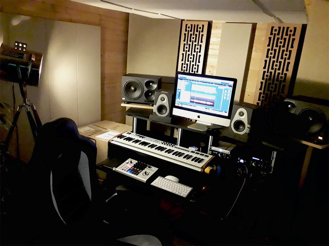 I pannelli della Serie Impression di GIK Acoustics in uno studio di registrazione