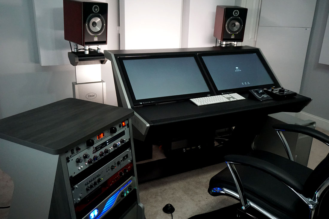 Home studio con bass trap 244 GIK Acoustics