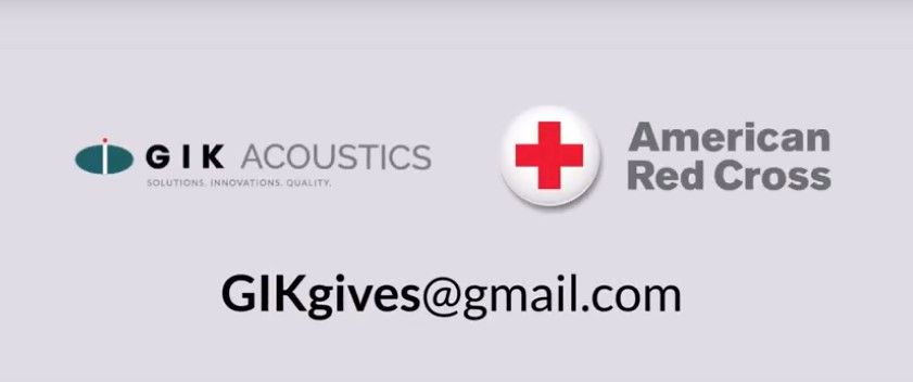 GIK Acoustics Gives Red Cross